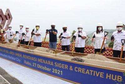 Groundbreaking Bakauheni Harbour City oleh Gubernur Lampung dan Wamen BUMN II