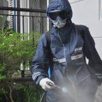Wisma Delima Melakukan Penyemprotan Desinfektan Secara Rutin