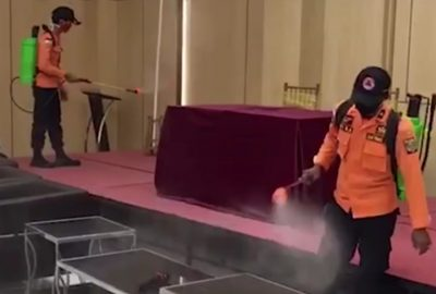 BBC Hotel Lampung Lakukan Penyemprotan Disinfektan Secara Berkala
