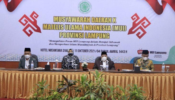 Wakil Gubernur Membuka Muda X MUI Provinsi Lampung