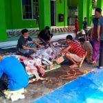 Pemotongan Hewan Kurban di Desa Margodadi